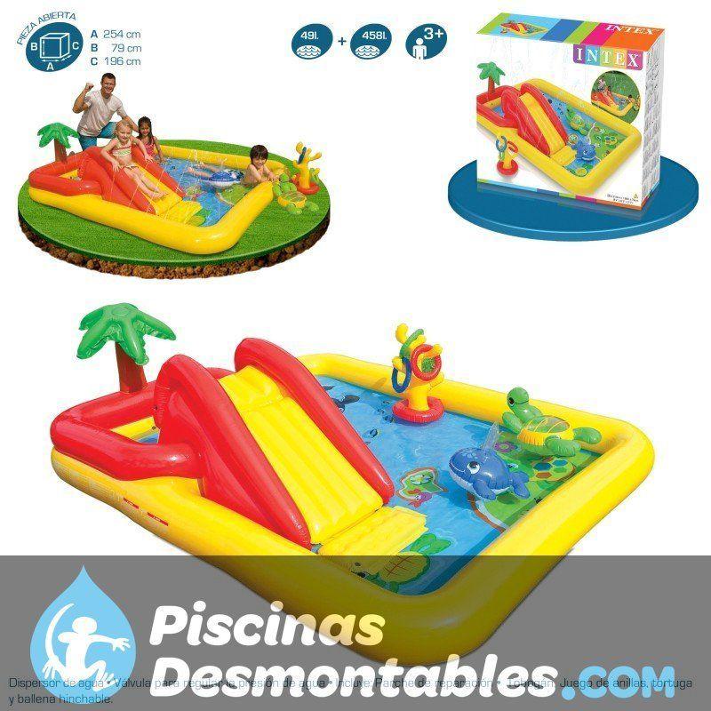 Centro de juegos dinosaurio 249x191x109 cm intex 57444 for Piscinas intex modelos y precios