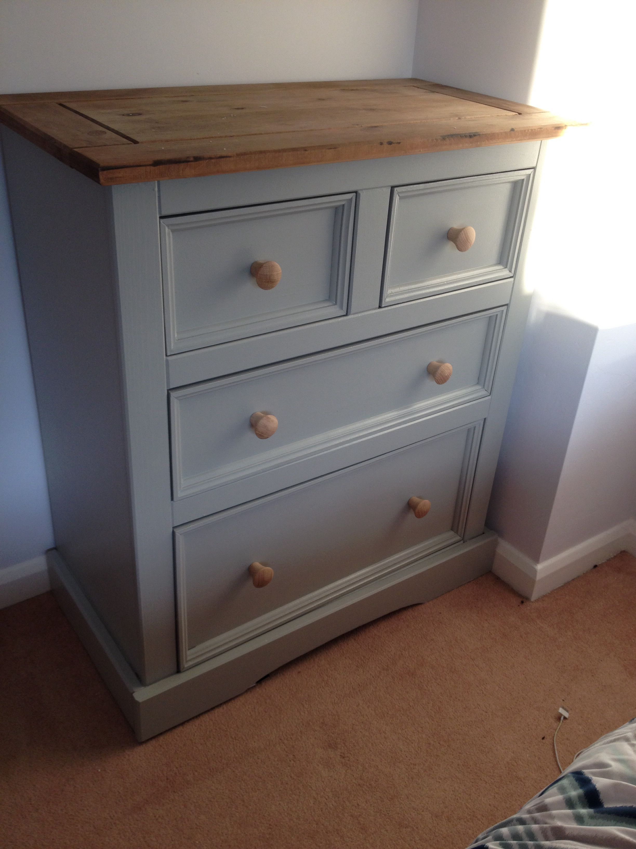 Unit Painted In Farrow And Ball Lamp Room Grey Pine Bedroom