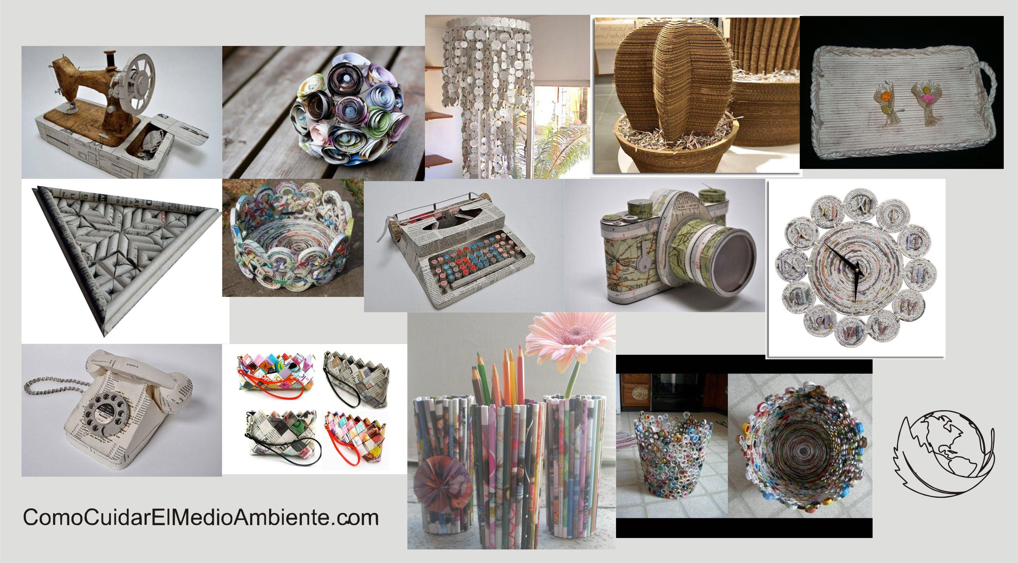 Como reciclar objetos manualidades como hacer un buro con papel periodico welcome to - Objetos de reciclaje ...
