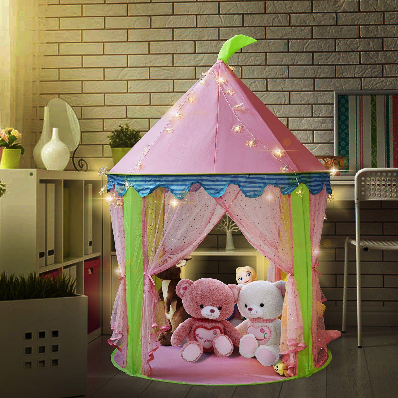 size 40 6ff95 4c2dc Princess Castle Tent Light Up Tent for Girls Pop up Tent ...