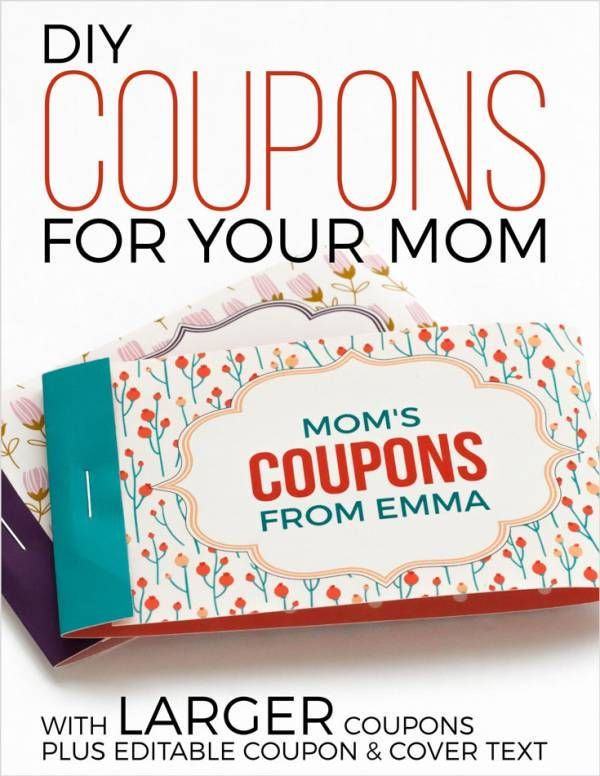 free printable mothers day coupons gifts of love pinterest