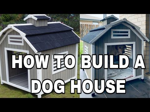 HOW TO BUILD A DOG HOUSE DIY The Barn Wooden Dog Kennel