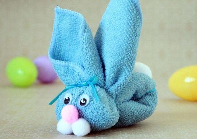Ostergeschenke Selber Machen Ideen Handtuch Hase Ohren