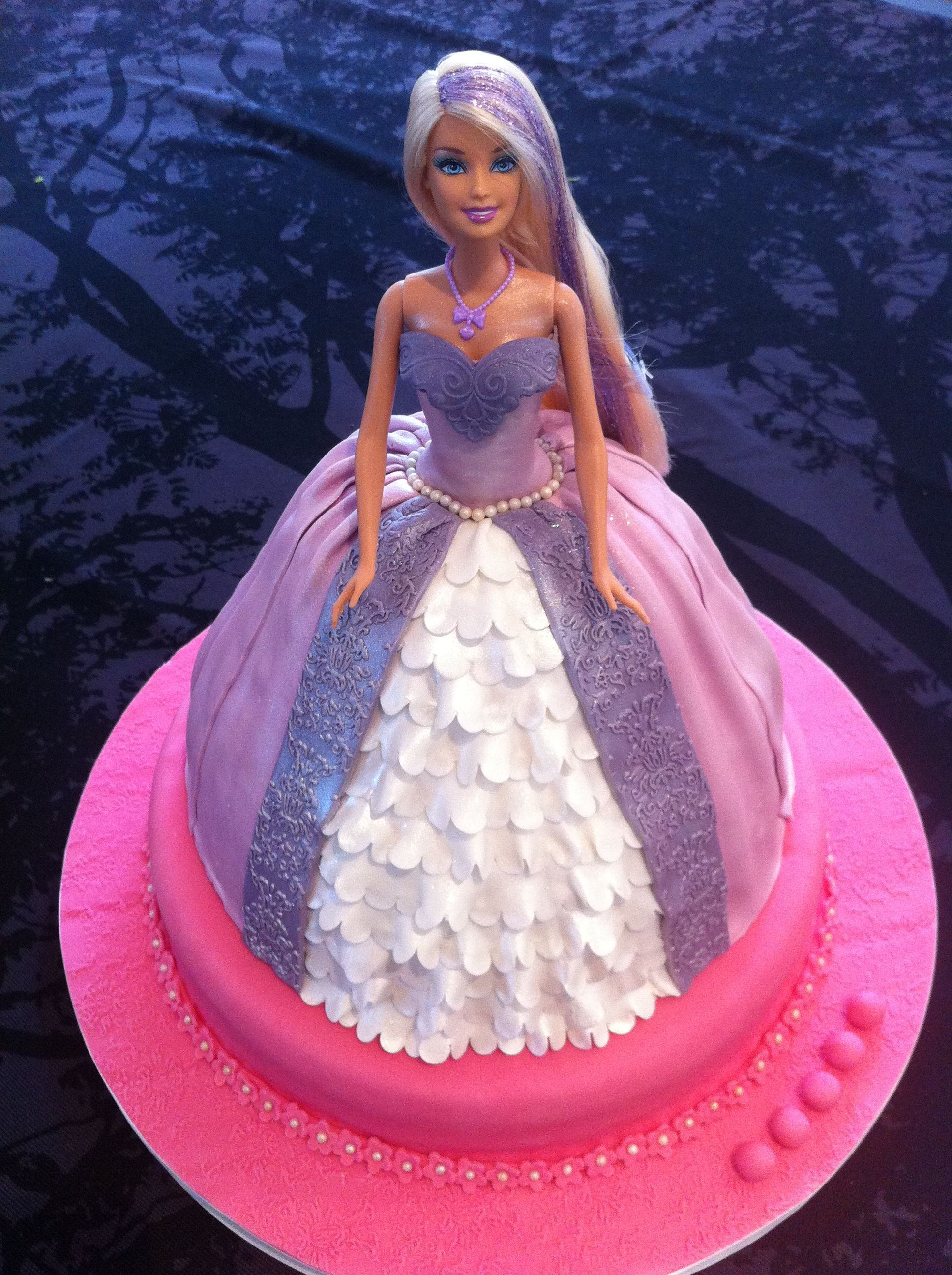 Barbie Cake 3 Another Barbie Princess Cake For A Cute 5 Year Old