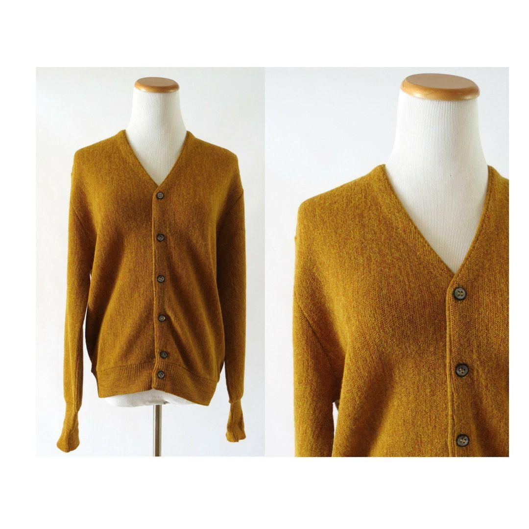 Mens Cardigan Sweater / Grandpa Cardigan / Vintage Cardigan ...