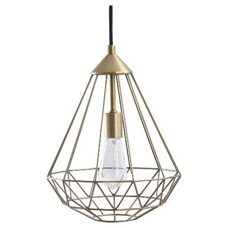 geometric metal pendant swag lights includes cfl bulb room essentials target