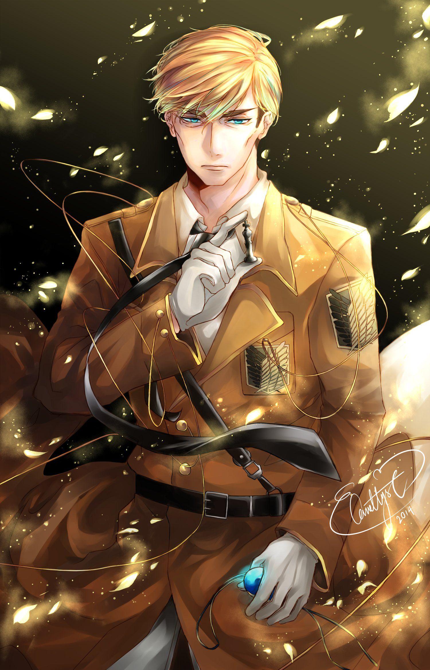 Erwin Smith Shingeki no Kyojin Attack on titan art