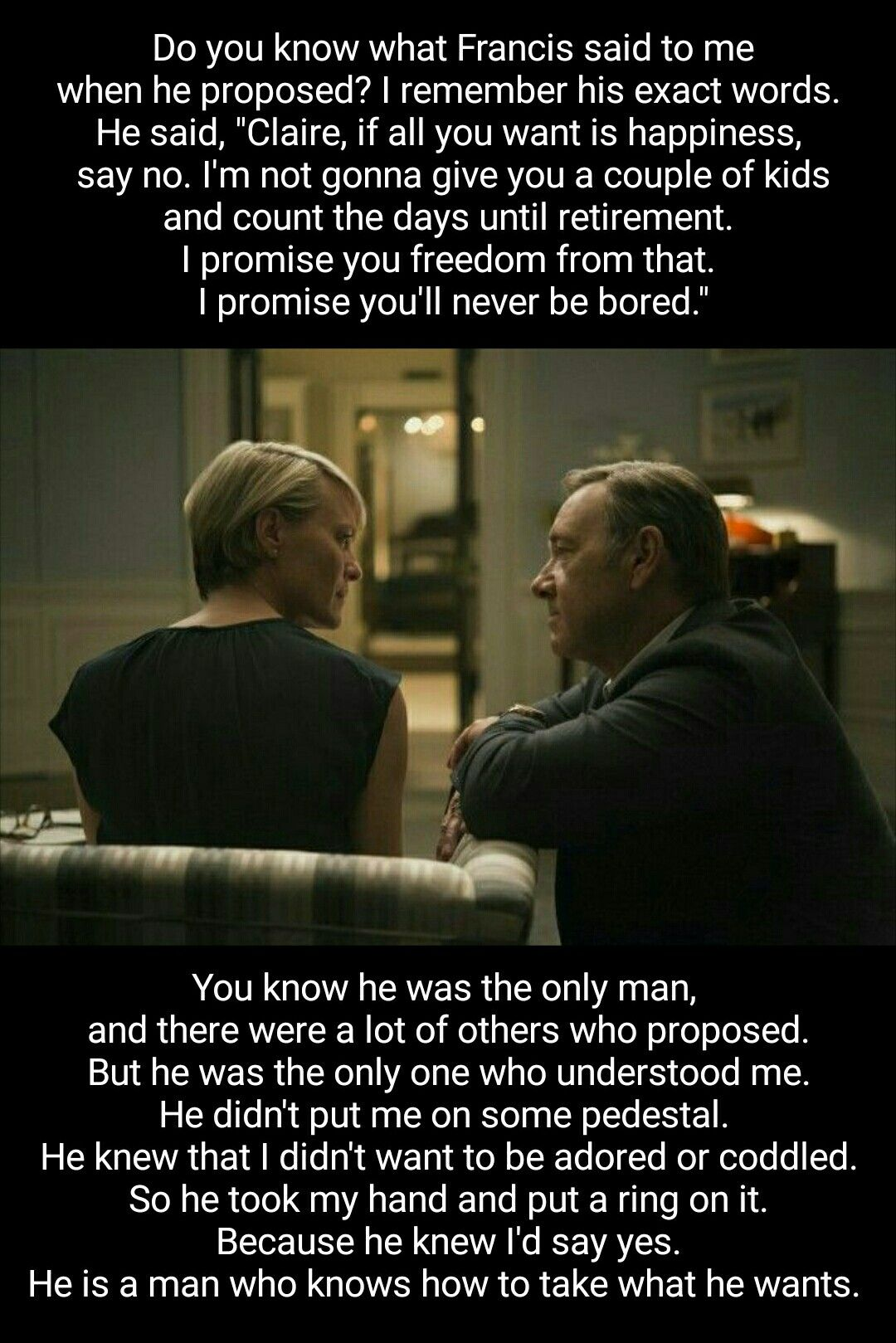 Frank Claire Underwood House Of Cards S01e06 Frank Underwood Quotes House Of Cards Seasons House Of Cards Season 6