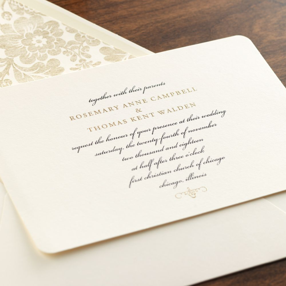 Invitations Set Tone Timeless: Evermore Wedding Invitation By Checkerboard Ltd