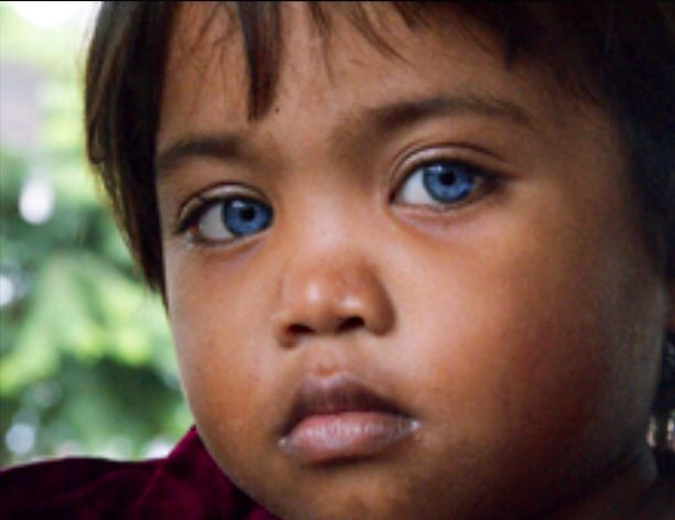 Child From Mangyan Tribe Philippines His Eyes His Soul
