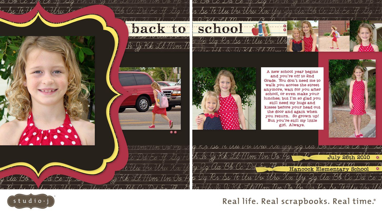 Elementary school scrapbook ideas - Back To School Scrapbooking Ideas