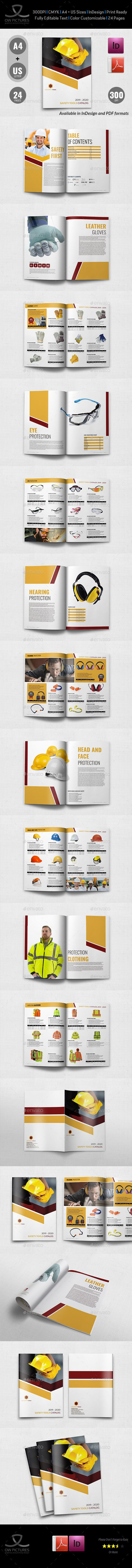 safety tools catalog brochure template 24 pages catalogs