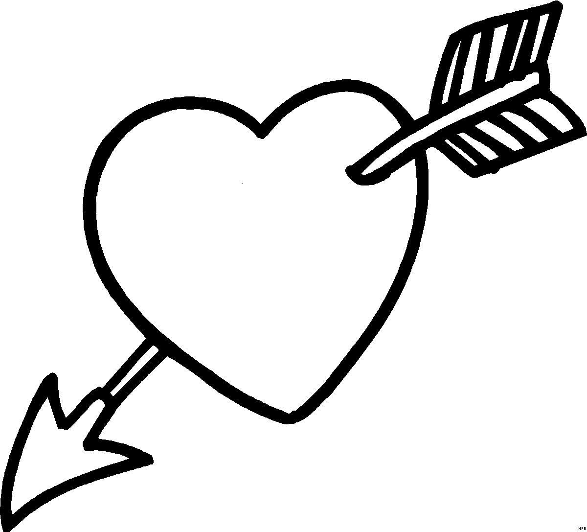 Malvorlagen Herz Mit Pfeil