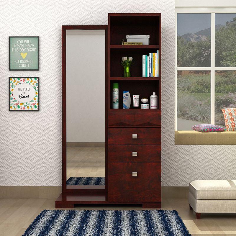 Buy Cinader Dressing Table Teak Finish Online In India Bedroom Furniture Design Dressing Table Design Closet Decor