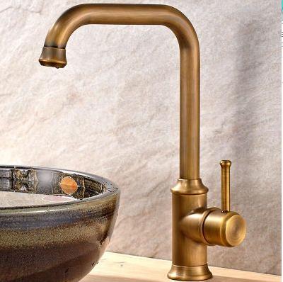 High Arc Antique Kitchen Mixer 201728 Brass Kitchen