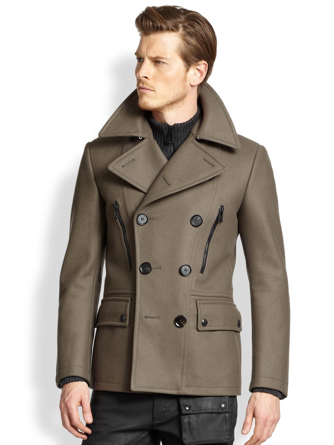 Men's Brown Harris Peacoat | For men, Clothing and Brown