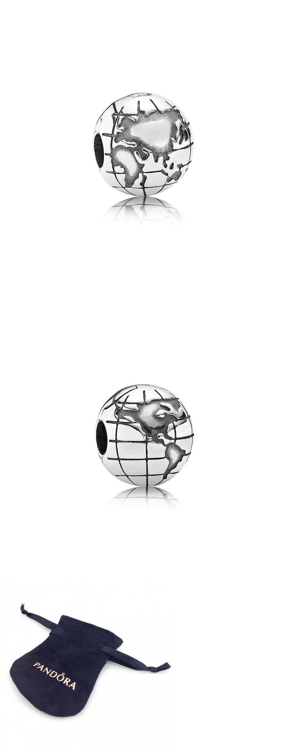 fa88fe2ff Wishlist Compare Charms and Charm Bracelets 140944 Authentic Pandora  Sterling Silver Globe Clip 791182 ...