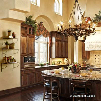 fabulous french country kitchen island designs   Fabulous French country kitchen. I heart this big ...
