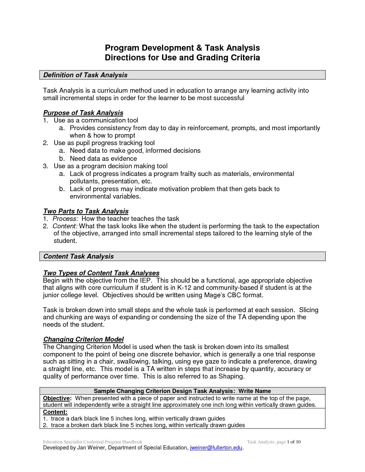 Discrete Trial Data Sheet Template