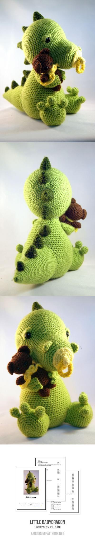 Little babydragon amigurumi pattern by Pii_Chii | Pinterest | Häkeln ...