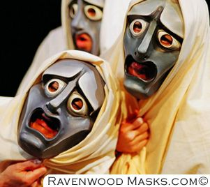Ravenwood masks (attempt at reconstructing ancient Greek theater ...