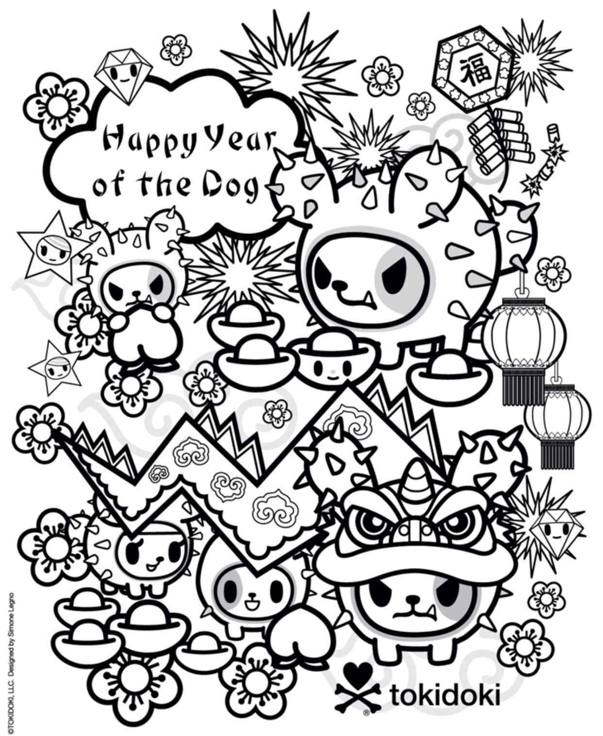 Tokidoki Yotd Colouring Page Cute Coloring Pages Cool Coloring Pages Tokidoki Characters