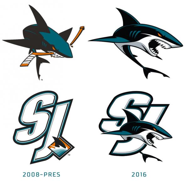 San Jose Sharks Introduce Three New Logos San Jose Sharks Shark San Jose Sharks Tattoo