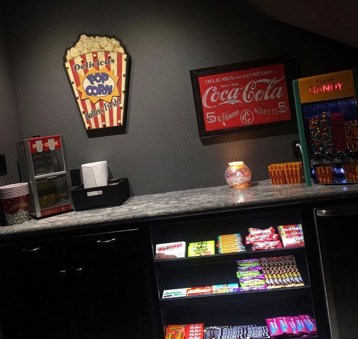 Concession Stand For Theater Room With Images: Movie Room, Room, Media Room