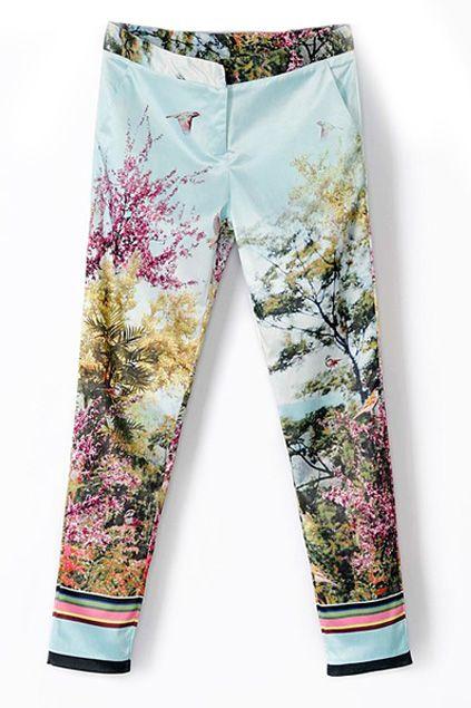 Floralem Muster Hosen Jeans Fur Damen Vergleichen