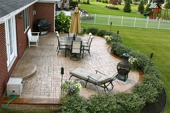 Landscape+around+patio | Nice Shrubbery Layout Around The Patio