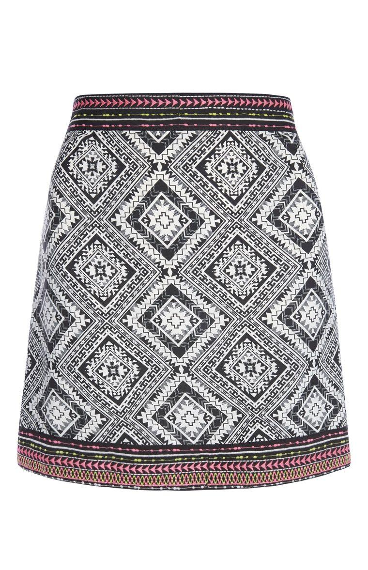 Primark - Aztec Mini Skirt | pєяu | Pinterest | Mini skirts, Aztec ...
