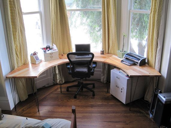 I Would Love To Have My Home Office Along A Bay Window For The Natural Light Desk By Jeremiahcollection On Etsy