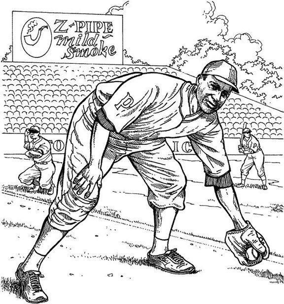 Pittsburgh Pirate Fielder Baseball Coloring Page | Purple Kitty ...