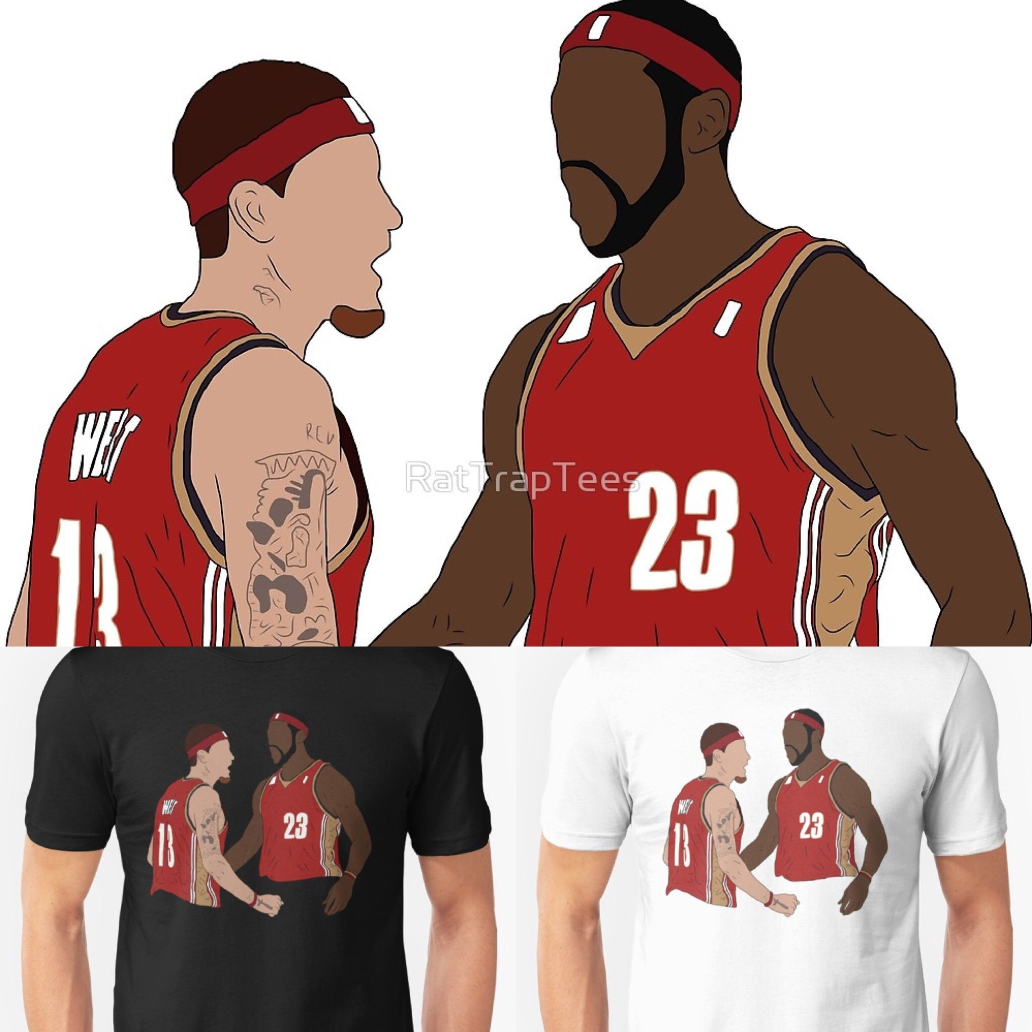 3039c27dcf0 LeBron James And Delonte West Shirt