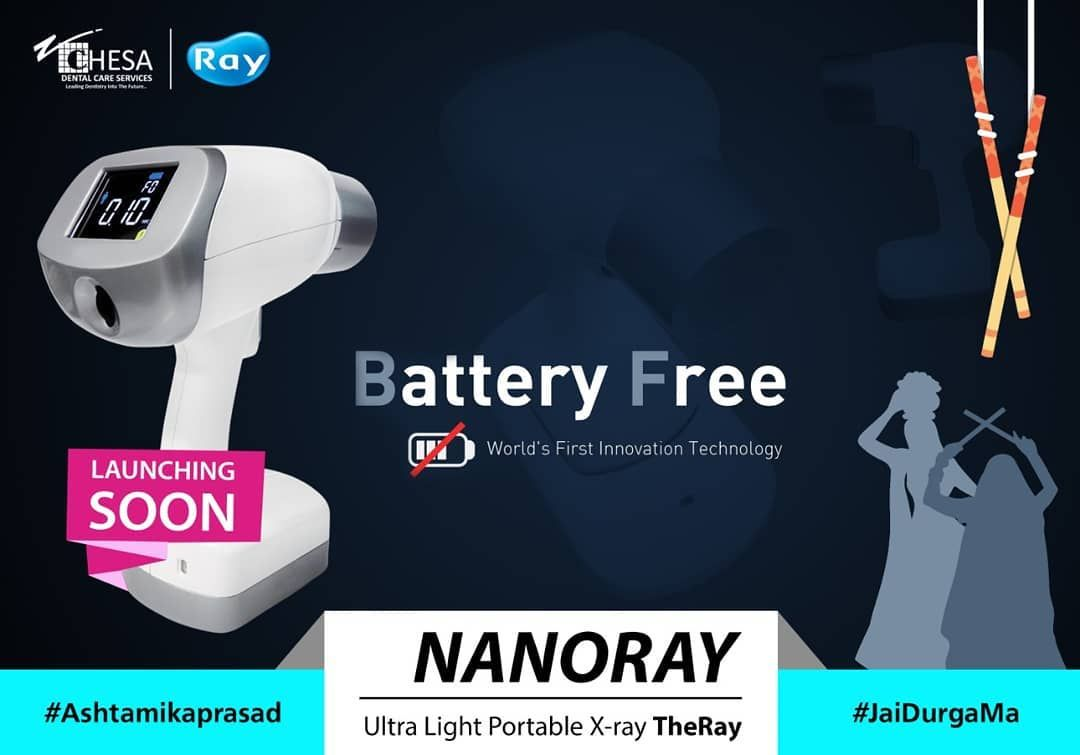 Launching Soon This Navratri Chesa Dental Care Proudly Presents Nanoray Portable X Ray World S First Innovat Innovation Technology Battery Free Technology