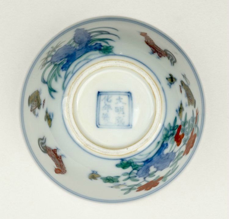 Doucai Chicken Cup Ming Dynasty Chenghua Mark And