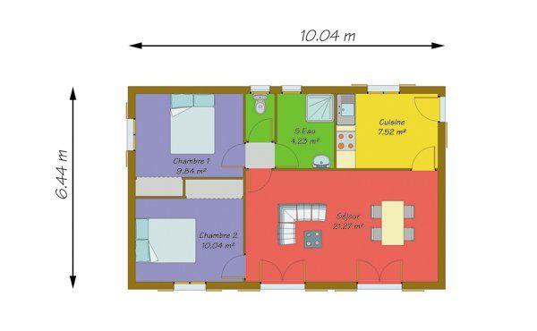 Resultat De Recherche D Images Pour Maison 50m2 Maison Maison Plain Pied Image Maison