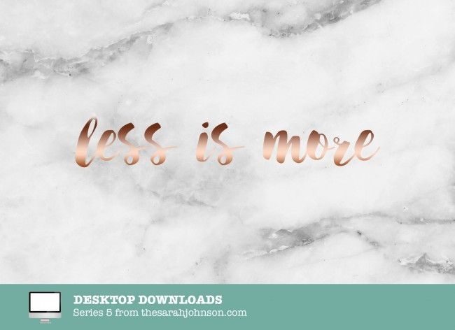 Less Is More Marble Rose Gold Label Dope Wallpaper