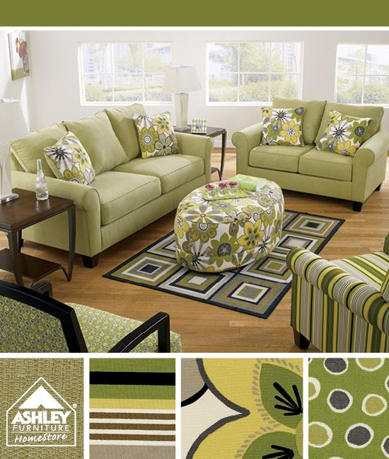 Coming Soon Nolana Citron Sofa Loveseat Accent Chairs Ashley Furniture Homestore Living Room Green Furniture Living Room Chairs