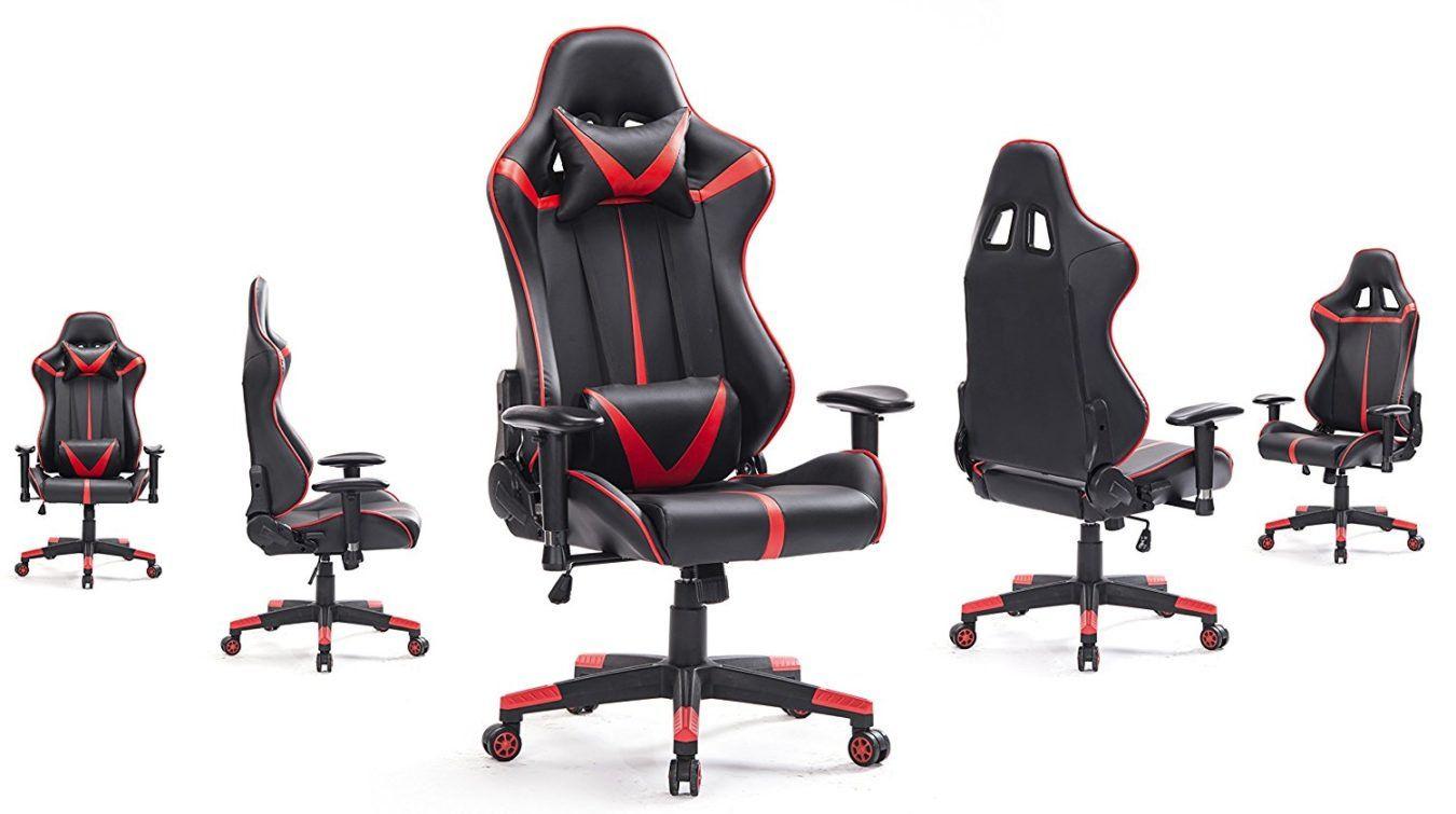 Top Gamer Gaming Chair High Back Computer Chair, Ergonomic Racing Chair  Leather Premium Lumbar