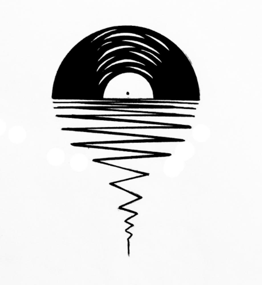 Record Sunsets Framed Art Print By Record Sunsets Vector Black X Small 10x12 Vinyl Art Paint Music Tattoo Designs Framed Art Prints