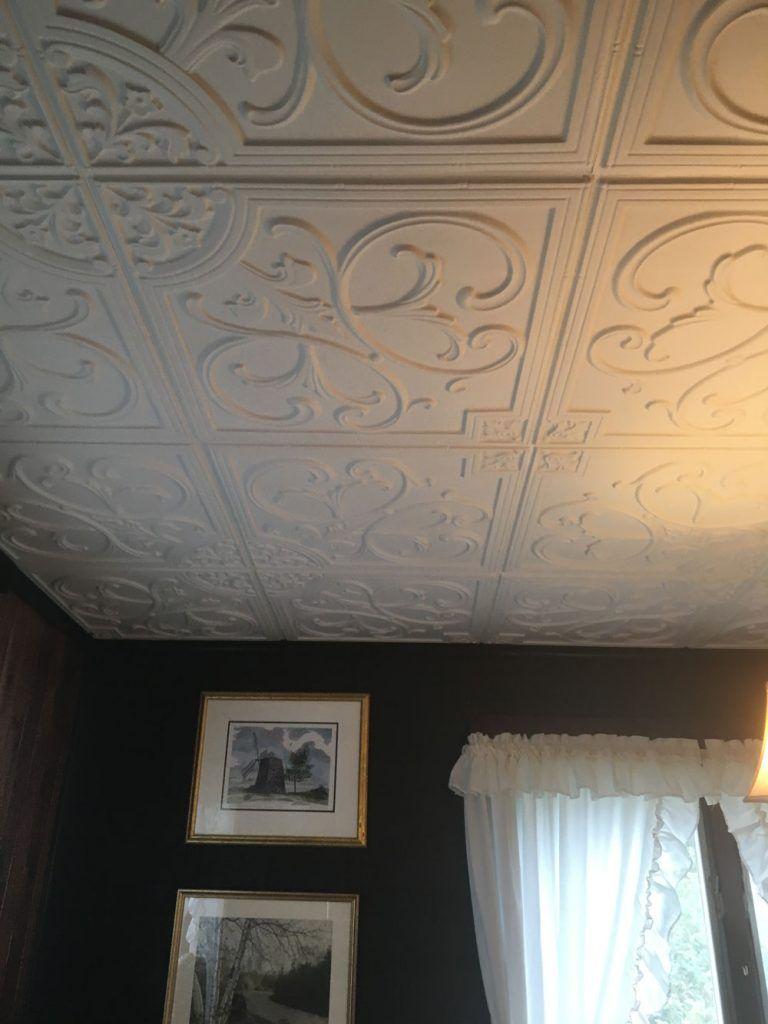 White Matte Ceiling Tiles Ideas Photos Decorativeceilingtiles Regarding Measurements 768 X 1024