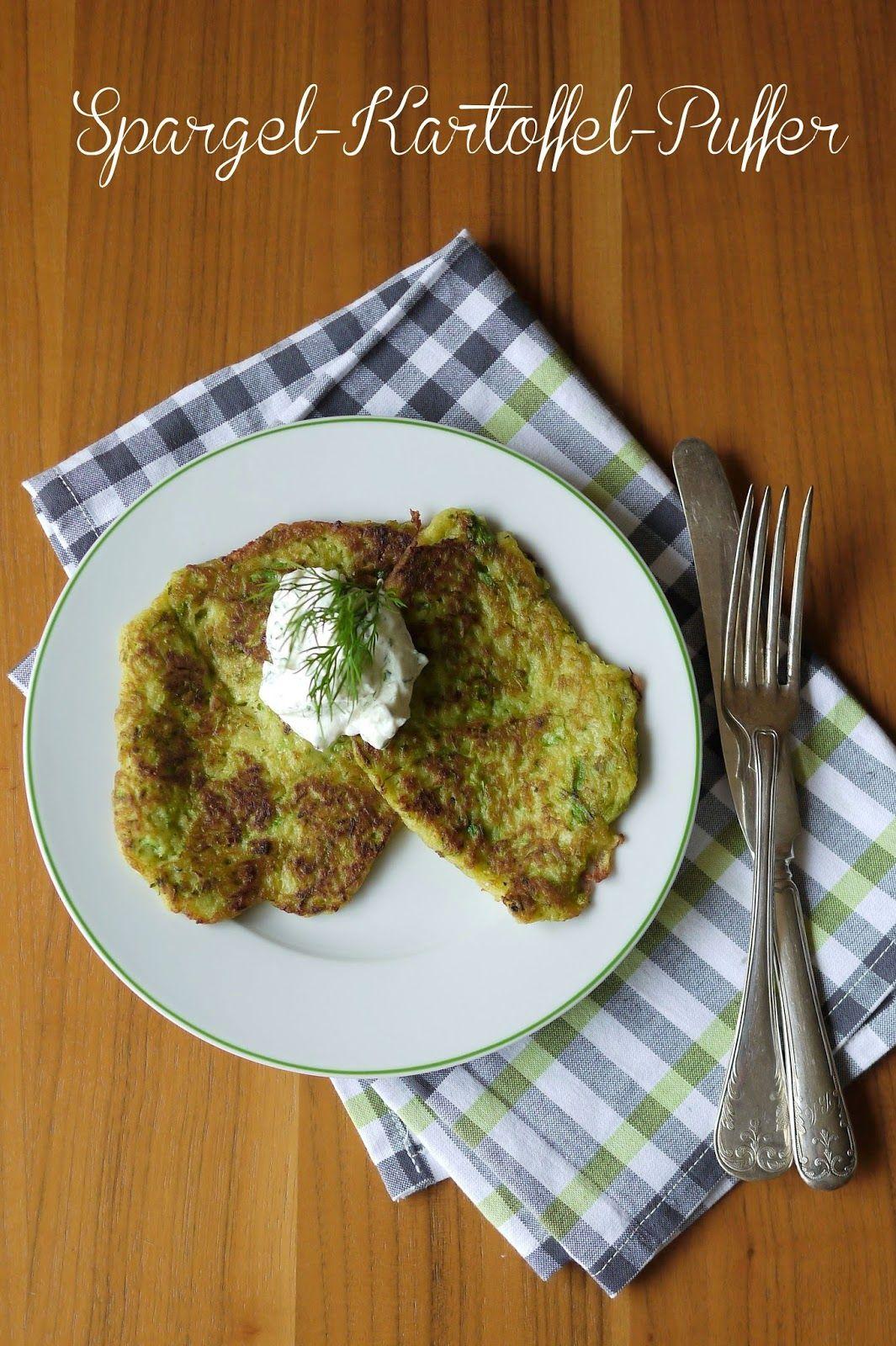 Spargel, Kochen, Kartoffeln, Spargel-Kartoffel-Puffer, Rezept, grüner Spargel