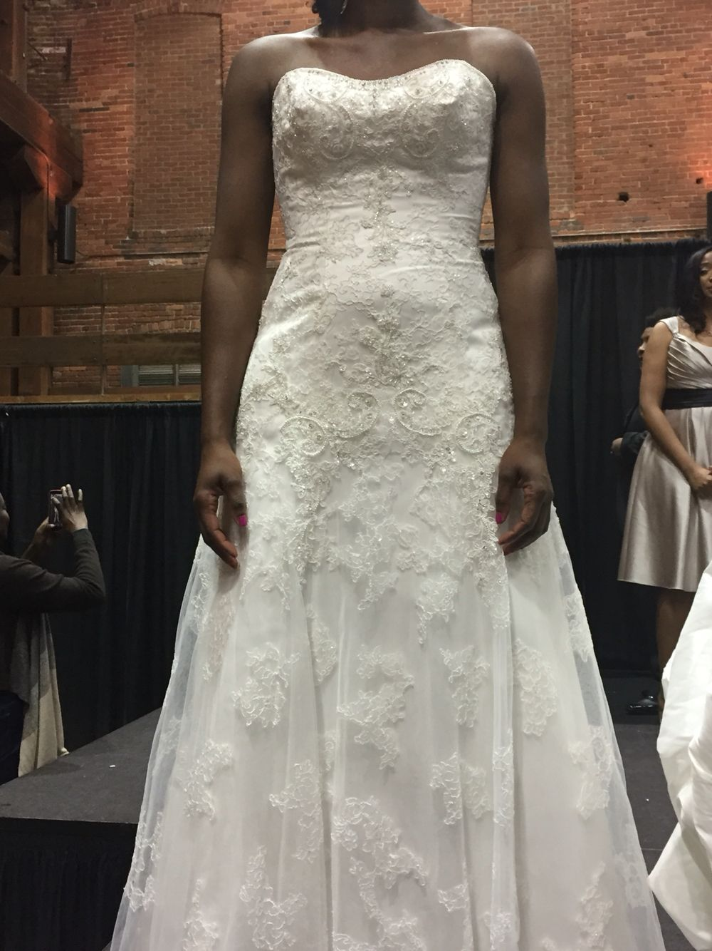 Daphneys Wedding Gown Wedding Dresses Lace Lace Weddings Strapless Wedding Dress