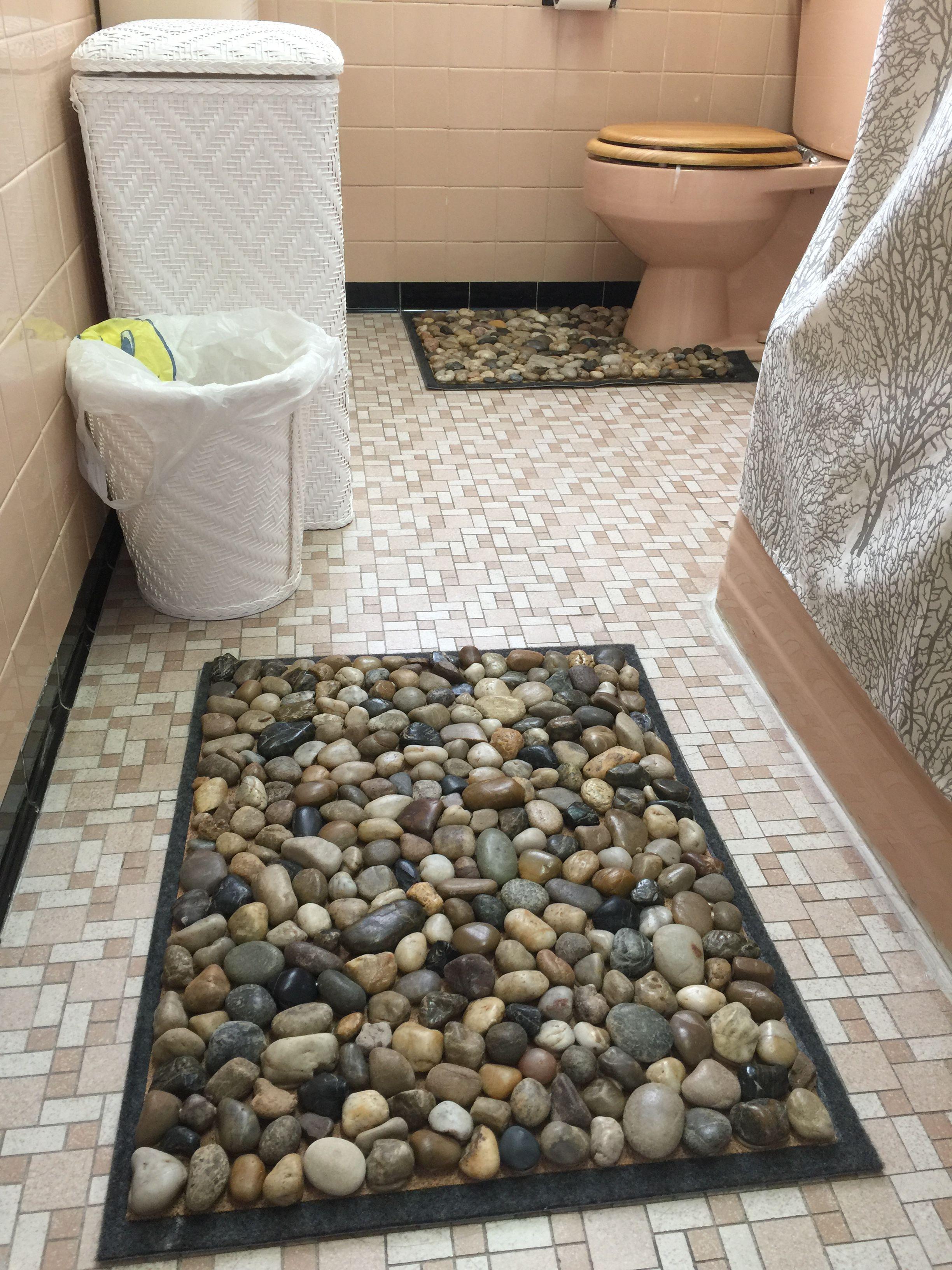 Diy Stone Bath Mats Stone Bath Mat Bathroom Mats Diy Diy Bath Mats
