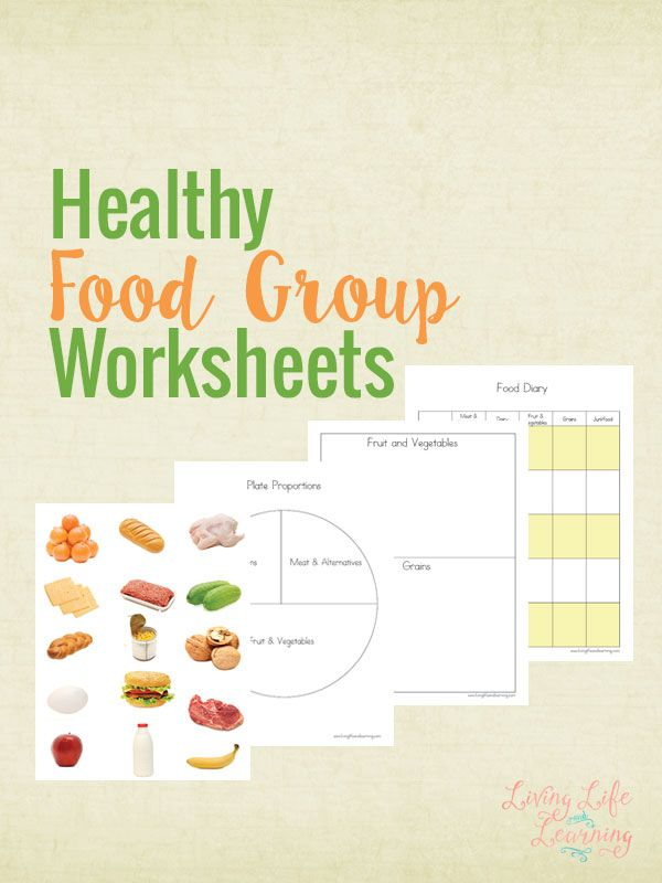 Free Printable Healthy Food Group Worksheets Group Meals