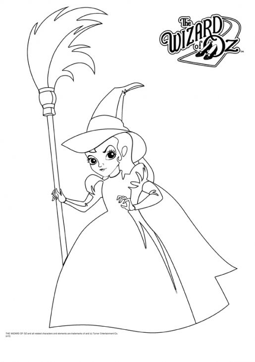 Beautiful White Witch From The Wizard Of Oz Coloring Page