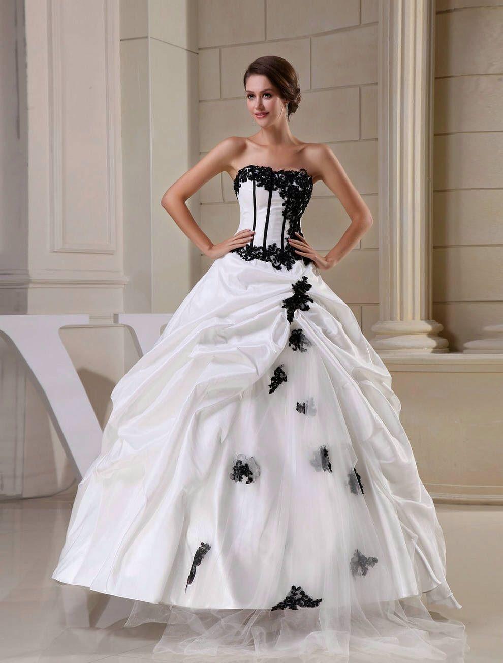 Black white wedding dress  Wait Maybe I want THIS ONE to be my wedding dress   dress to