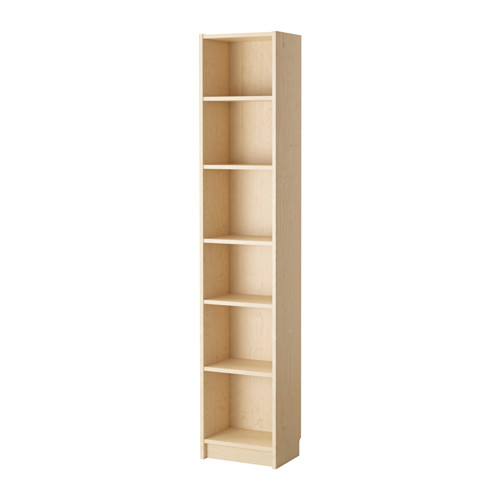Ikea Billy Bookcase Birch Veneer Narrow Shelves Help You Use Small Wall Es Effectively By Accommodating Items In A Minimum Of E