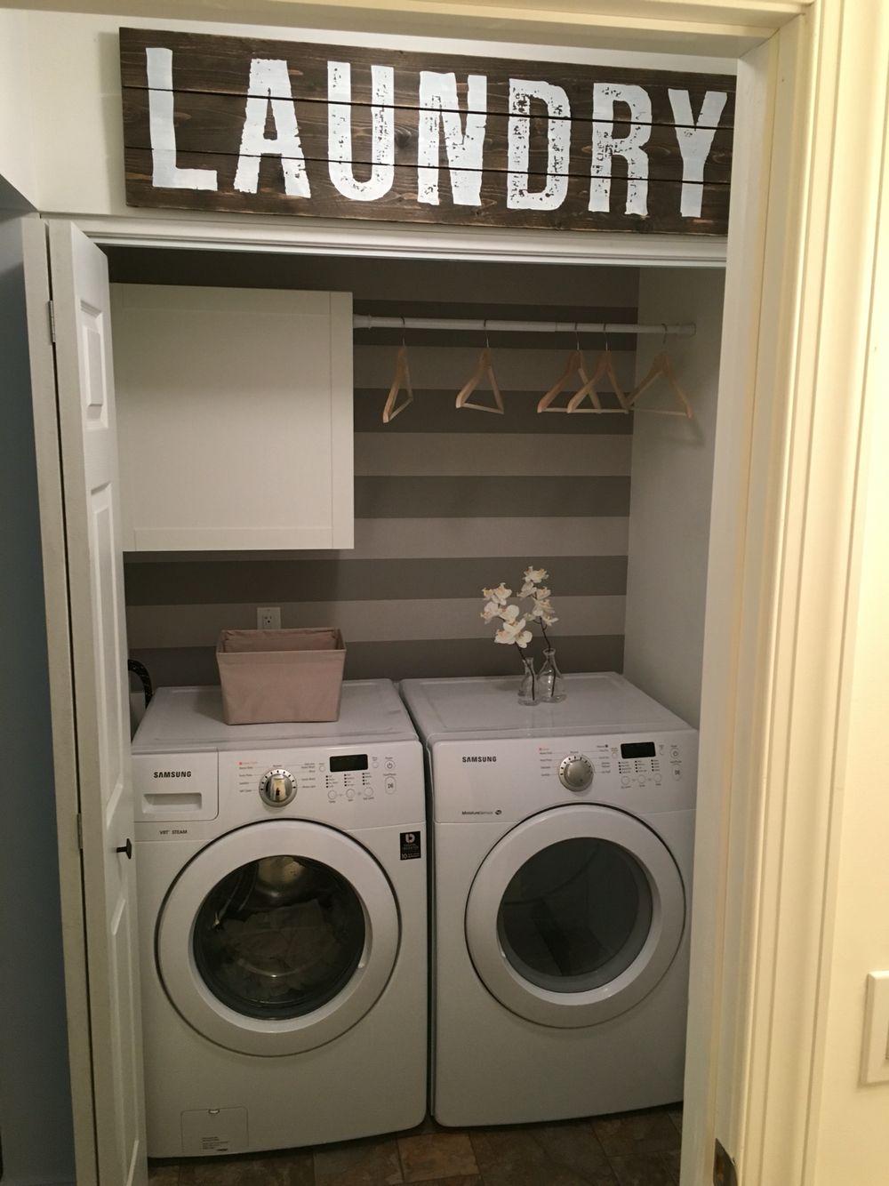 laundry room closet organization | My new laundry closet in 2019 | Laundry closet makeover ...